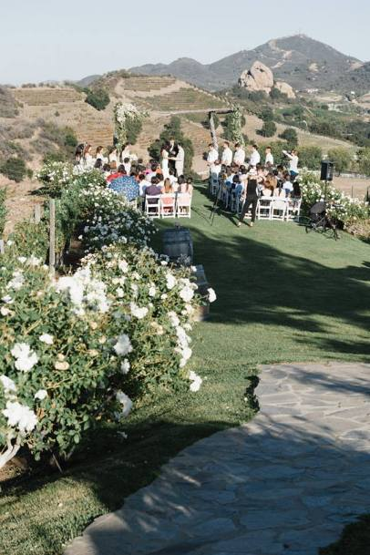 Crash spins reception at Saddlerock Ranch Malibu