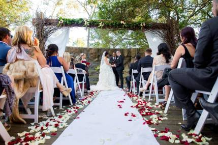 Crash spins wedding at Calamigos Ranch Malibu